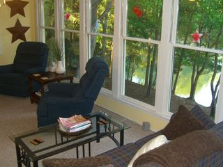 Sunroom Overlooking Lake -- So Close!