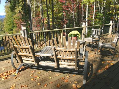 Open back deck facing view - Gorgeous Fall Color!