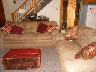 Jay Peak cabin photo - Comfie living room - reat for reading and listening to music