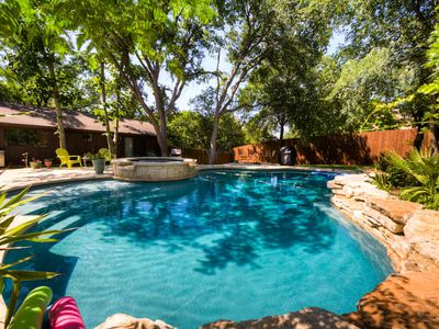 Beautiful Salt Water Pool, grill, lounge chairs, and relaxation!