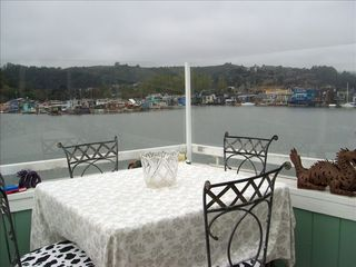 Sausalito house boat photo - Panoramic View from upper deck