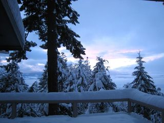 Hood River house photo - Winter Sunset from deck
