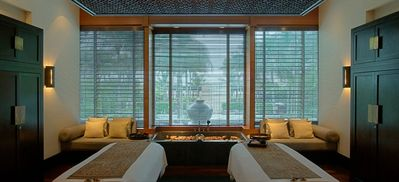 Book a Setai Spa suite over looking the pools. Perfect for a couples massage!