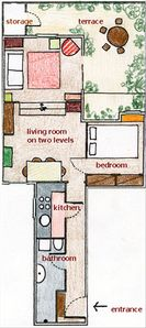 Lay-out of apartment