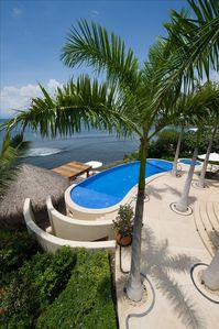 Infinity Pool & Steps to Lower Palapa & Lower Bath
