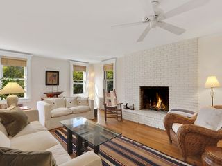Bridgehampton house photo - Living Room with fireplace