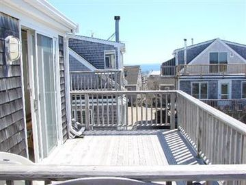 Provincetown condo rental - View of water from one of two private decks.
