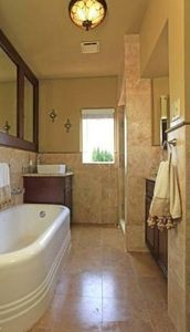 Los Angeles house rental - Master Bathroom with 12in rainfall shower
