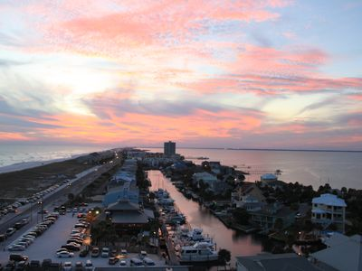 Beautiful sunsets with panoramic views of the Gulf, Lafitte Cove and SR Sound.