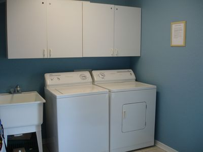 Large laundry room.