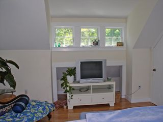 "Oak Bluffs house photo - the same king MBR, there's a new 26"" HDTV and DVD player here now"