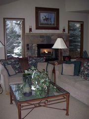 Beaver Creek house photo - Great room with fireplace.