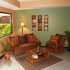 Playa Hermosa house photo - Cozy seating off kitchen & dining area