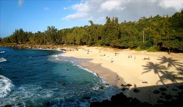 Waimea Bay house rental - Three Tables Beach, just a minute walk away.
