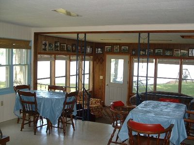 Sandy Creek cottage rental - View of Sandy Pond from dining and living area.