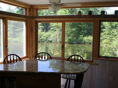 Enjoy your coffee while viewing the river and back yard.