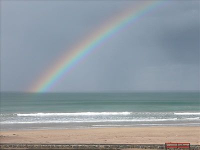 Castlerock beach rainbow