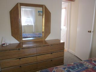Plum Island house photo - Bedroom with large bureau and mirror.