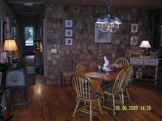Meadows of Dan cabin photo - Open Dining Area With Beautiful Antiques