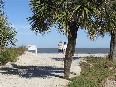 Our beach access just steps from our private boardwalk...