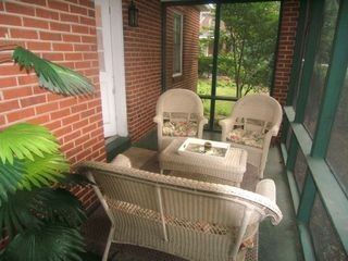 Wilmington house photo - Cozy screened -in Porch