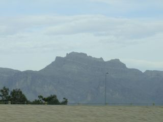 San Tan Valley house photo - View of Superstition Mountains from our backyard