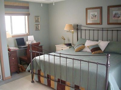 Comfortable,Beautifully decorated Master Bedroom, with king size bed
