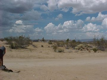 Yucca Valley cabin rental - The view across the street where Tony and Digna live now