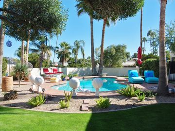 Other Scottsdale Properties house rental - Large private QUIET back yard & large diving pool. This is only half of the yard