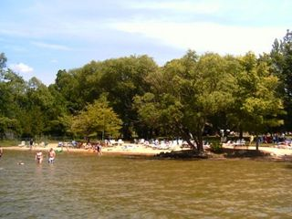 Bellaire / Shanty Creek condo photo - Beach on Lake Bellaire at club