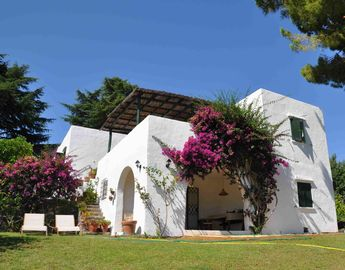 San Felice Circeo villa rental - The villa and part of the garden