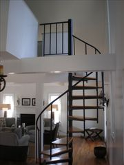 Amagansett cottage photo - Spiral Staircase to Loft on 2nd Floor