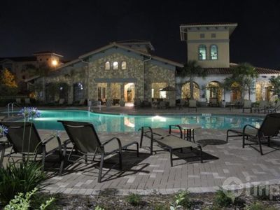 Spend the evening pool side at the Bella Piazza Resort