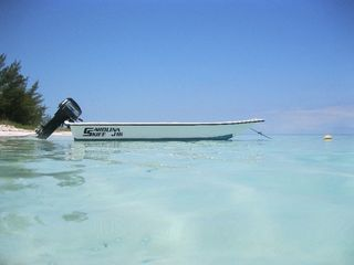 New 16' fiberglass boat for exploring nearby deserted islands and beaches. - Spanish Wells villa vacation rental photo