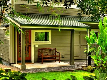 Hilo bungalow rental - Welcome to the Bamboo Bungalow - private covered entry