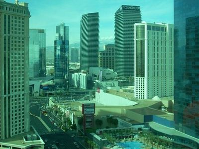 Las Vegas studio rental - Actual view from suite! Superior views of the strip!