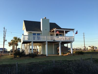 Relaxing beachfront escape in sea isle 3 vrbo for Galveston fishing charters cheap