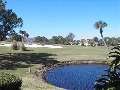 View of Sawgrass East 7th Green and Lagoon