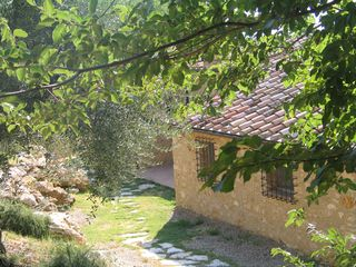Penna in Teverina villa photo - The pool is up a natural stone path behind the house