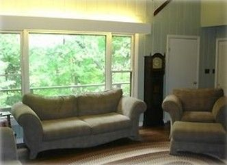 Living room with large full view windows.