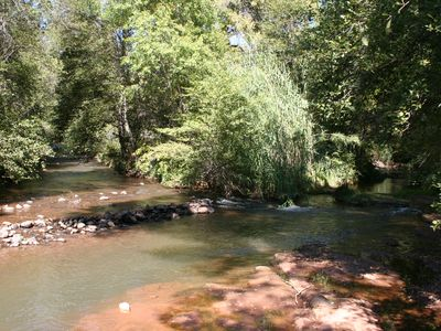 Two forks of Oak Creek combining