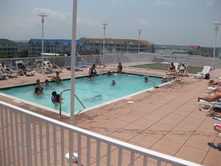 Belmont Towers Ocean City townhome photo - Roof top pool w/ great views of boardwalk, ocean and beach