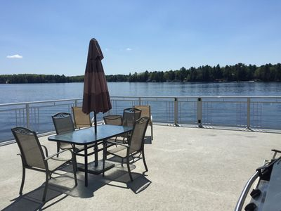 View From the boathouse deck. What more could you ask for?