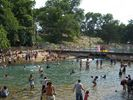 Take the dog to play at Barkin' Springs, the spillway from Barton Spring Pool!