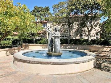 Beautiful Fountains, Trees and Sitting Areas!