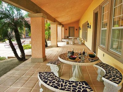 Borrego Springs estate rental - Main Residence Veranda.