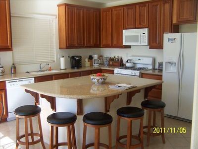 Create one of your specialties in our spacious kitchen while discussing the day.