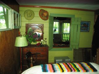 Stanfordville cottage photo - master bedroom - lake view thru window