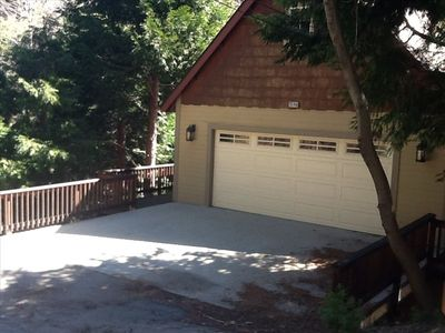 Driveway & Garage - Easy drive in access. No stairs. Plowed road lets you in.
