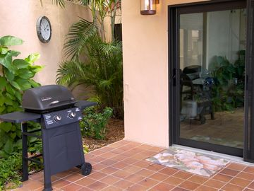 Your own private grill just steps from Bliss's kitchen and indoor/outdoor dining